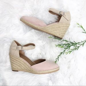 15ae8f86591 Susina Shoes - Susina- Blush Lily Ankle Strap Wedge Sandal